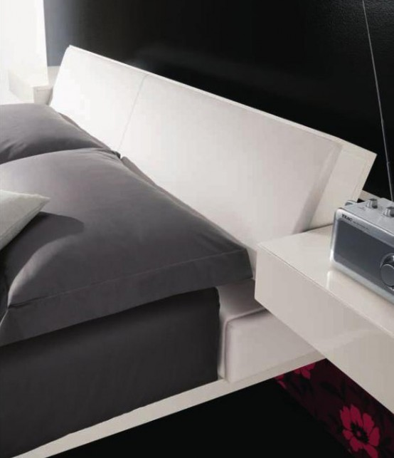 Contemporary Bed With Built In Lights Diaz By Prealpi