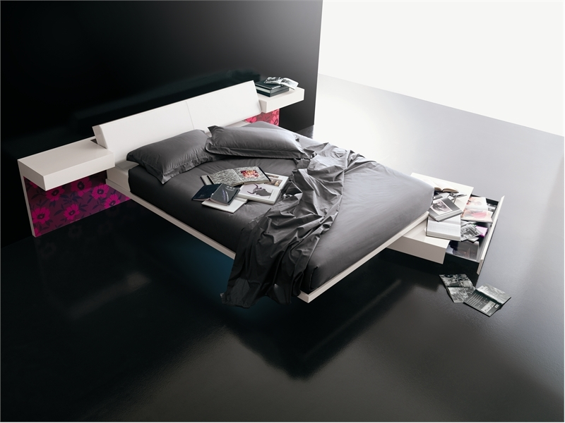 Contemporary Bed With Built-in Lights – Diaz by Prealpi