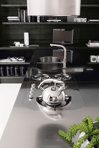 Contemporary Black And White Kitchen Asia By Futura Cucine