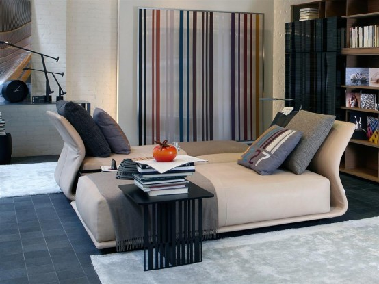 Contemporary Comfortable Sofa Night & Day By Molteni