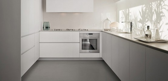 Contemporary Kitchen With Modular Work Island