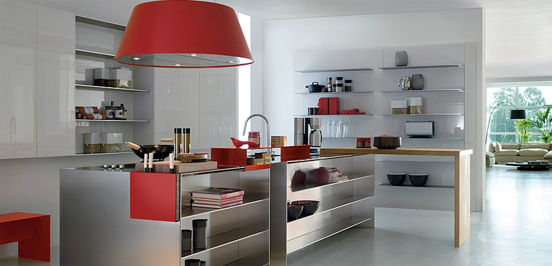 Contemporary Kitchen With Modular Work Island – EL_01 by Elmar