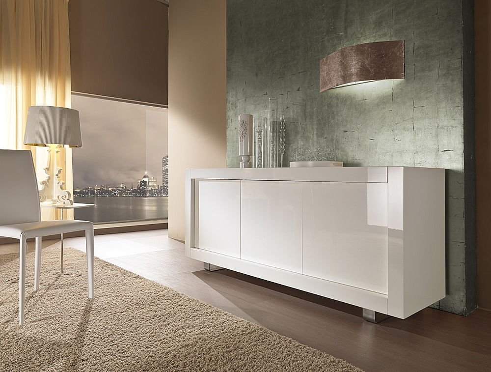 contemporary white sideboards with luxury finishes by rifleshi digsdigs. Black Bedroom Furniture Sets. Home Design Ideas