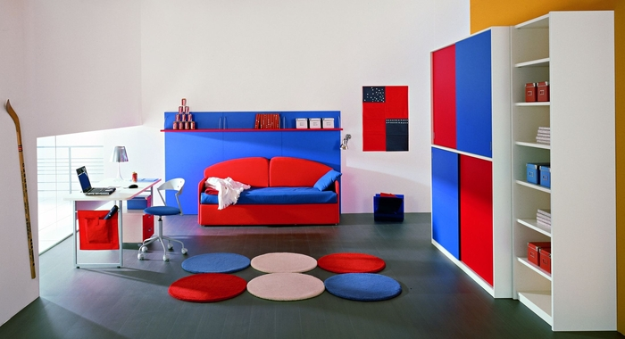 Cool Boys Teen Bedroom Decorating Ideas By Zg Group In Orange Blue