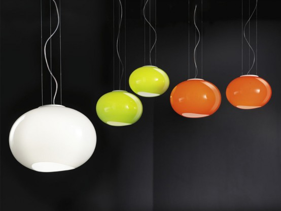Cool Colorful Glass Lamps Noa By Lucente