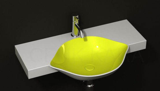Cool Fruit Inspired Bathroom Sinks Lemon By Cenk Kara