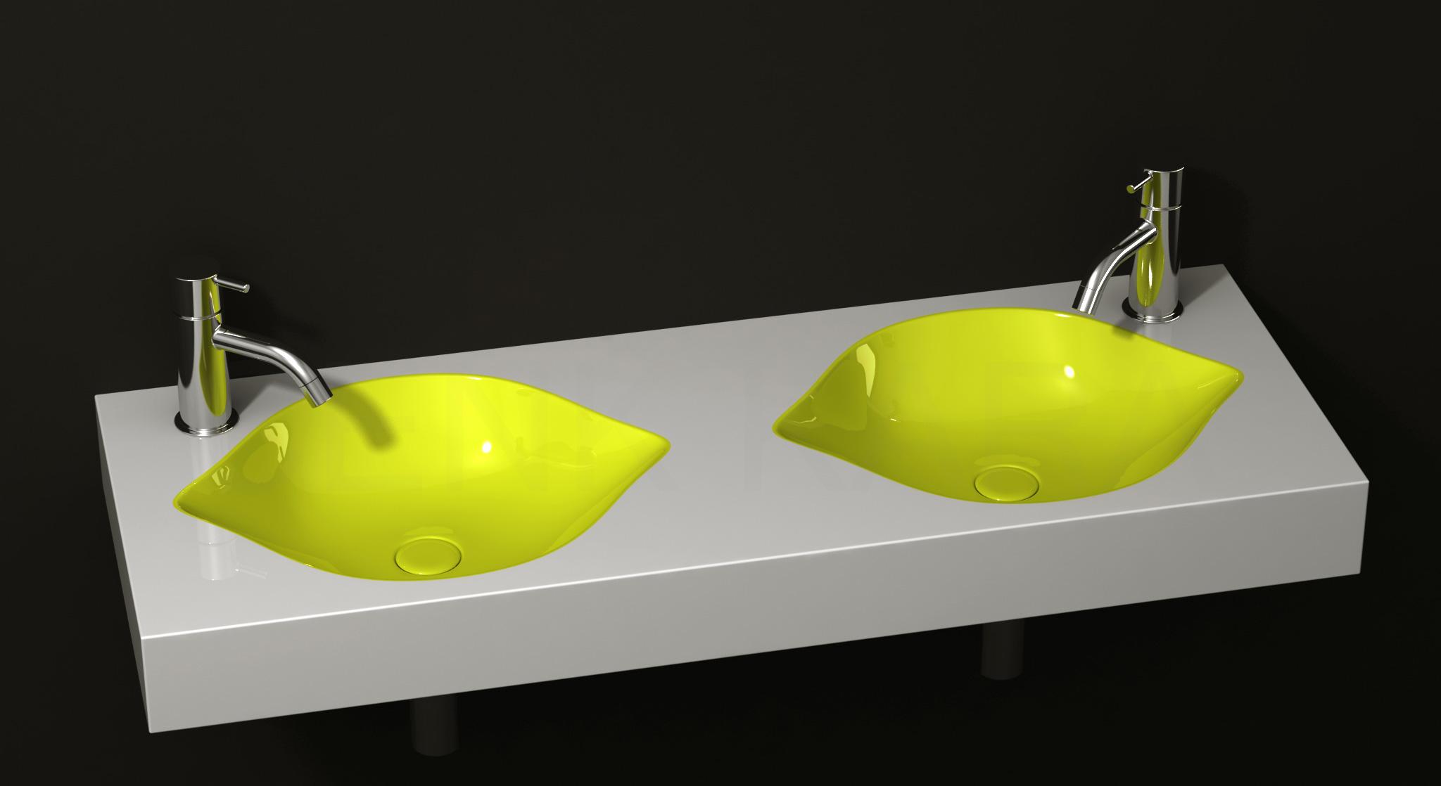 Cool Sinks : Cool Fruit-Inspired Bathroom Sinks -Lemon by Cenk Kara DigsDigs