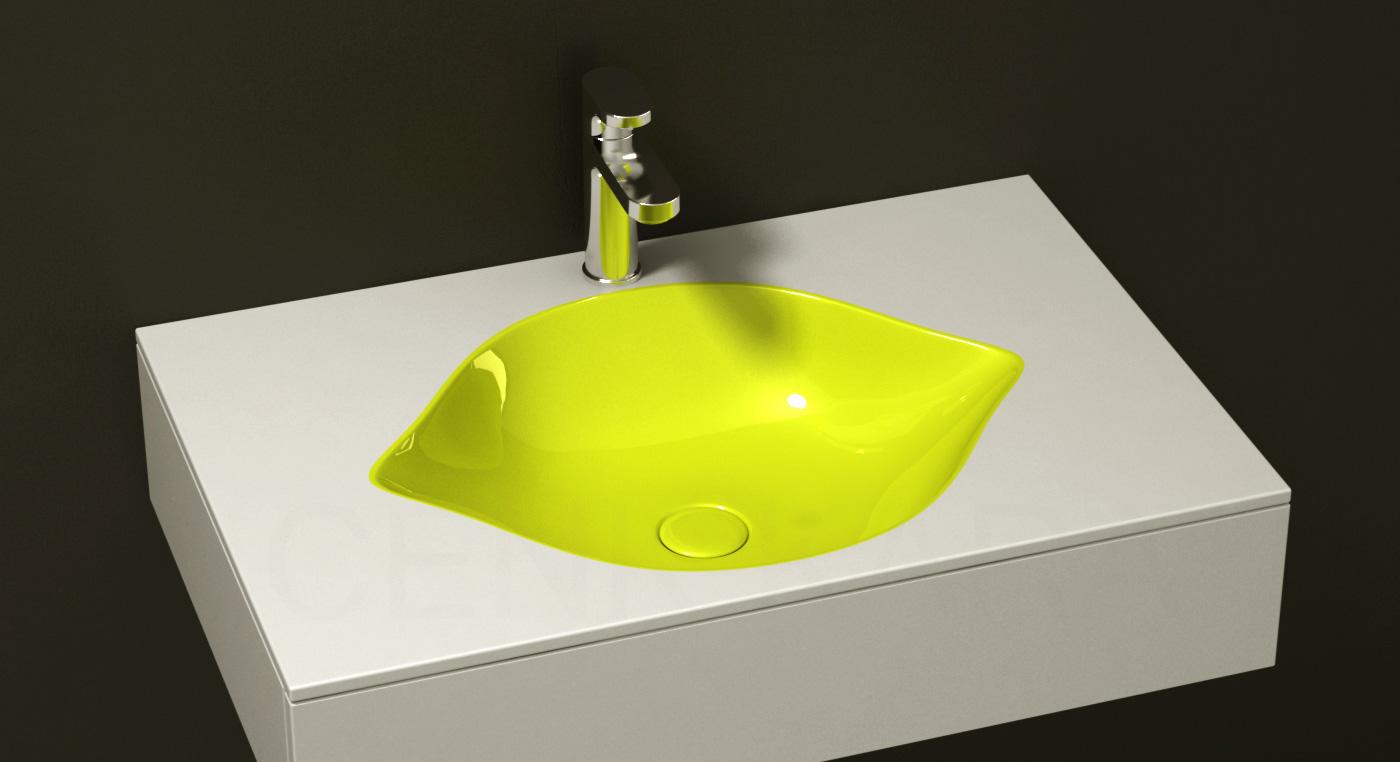 Cool fruit inspired bathroom sinks lemon by cenk kara Cool bathroom sink faucets