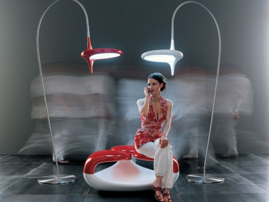 Cool Futuristic Ceiling and Floor Lamps