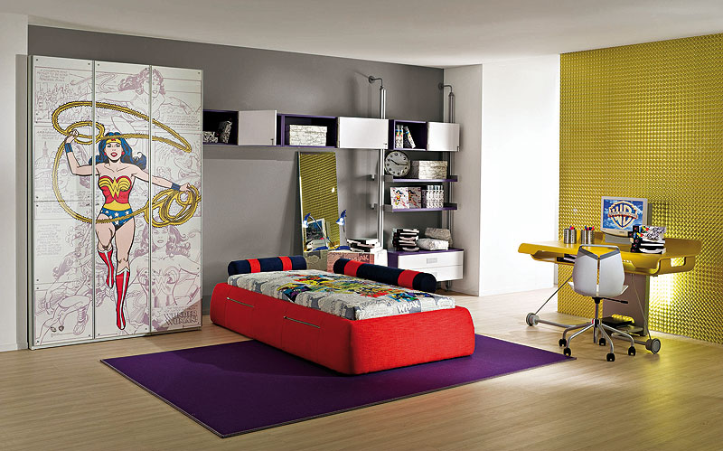 Cool kids room with new designs by cia international digsdigs Cool bedroom designs for small rooms