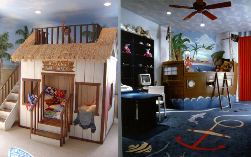 27 cool kids bedroom theme ideas digsdigs for Cool designs for bedroom