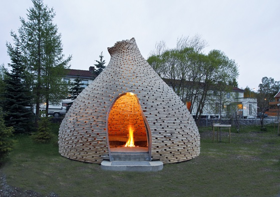 Cool Outdoor Fireplace For Your Garden By Hagen And Zohar
