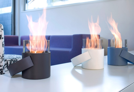 Cool Portable Fireplace – HotPot By Conmoto