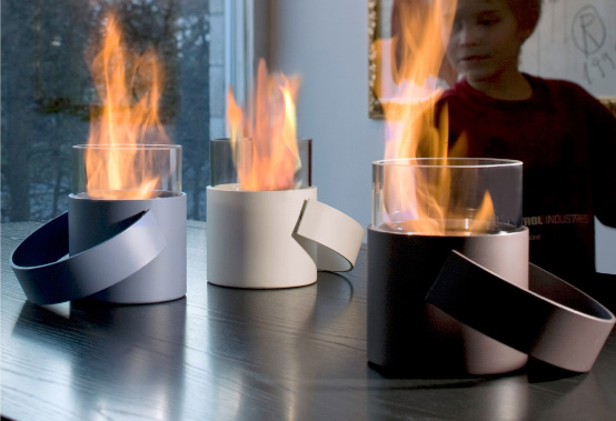 Cool Portable Fireplace HotPot By Conmoto
