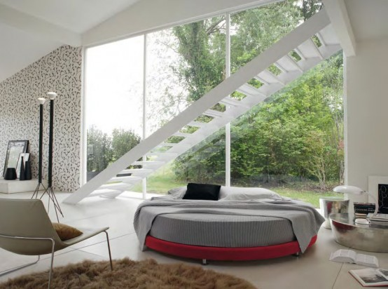 Amazing Cool Round Beds Kaleido From Euroform