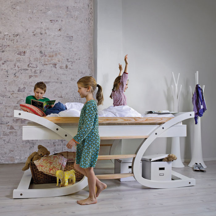 Cool Single And Bunk Kids Beds Wave By Mimondo