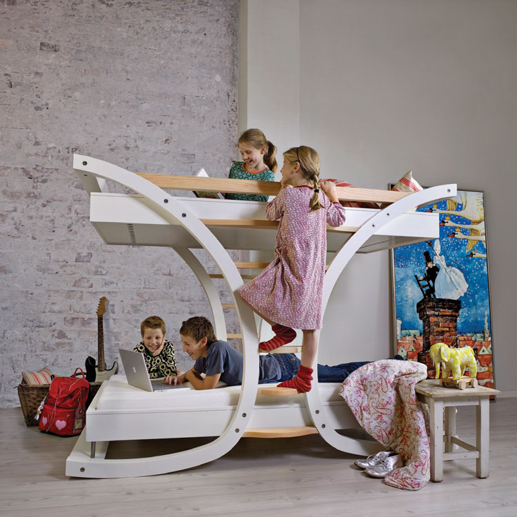 cool single and bunk kids beds wave by mimondo digsdigs. Black Bedroom Furniture Sets. Home Design Ideas