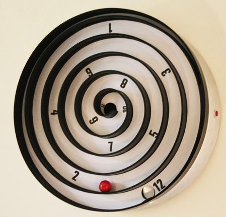 Cool Wall Clock With Balls Instead Hands Aspiral Clock By Will Aspinall And
