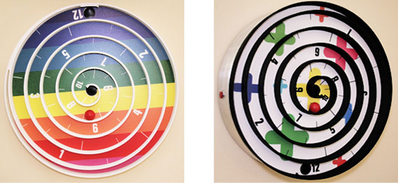 Cool Wall Clock With Balls Instead Hands  Aspiral Clock By Will Aspinall And Neil Lambeth