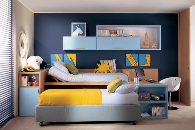Cool And Ergonomic Bedroom Ideas For Two Children Home