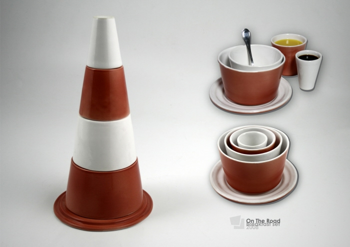 Cool and Functional Breakfast set – On The Road by Pierre Lescop