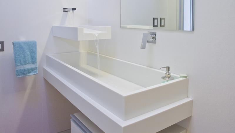 Cool And Unsual Two Layer Bath Sink By Mal Corboy