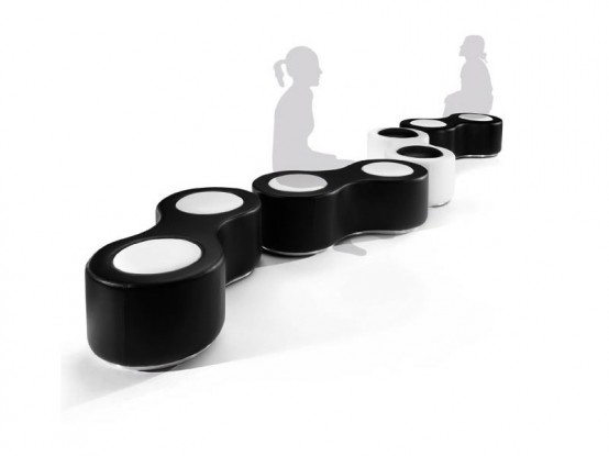 Cool Black And White Poufs Binoculo By Italian Sofa Design