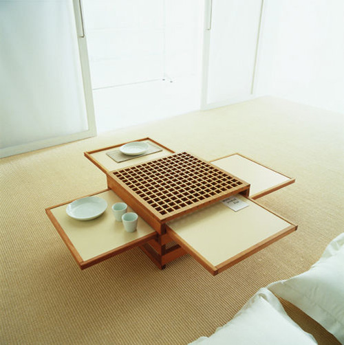 Cool expandable coffee and dining tables by sculrtures for Cool kitchen tables