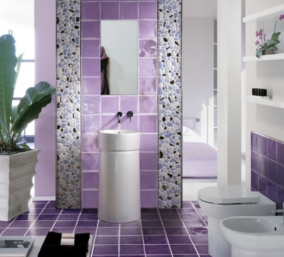 Luxury-bathroom-design-with-violet-tiles