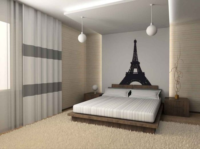 Cool paris themed room ideas and items digsdigs Cool bedroom ideas