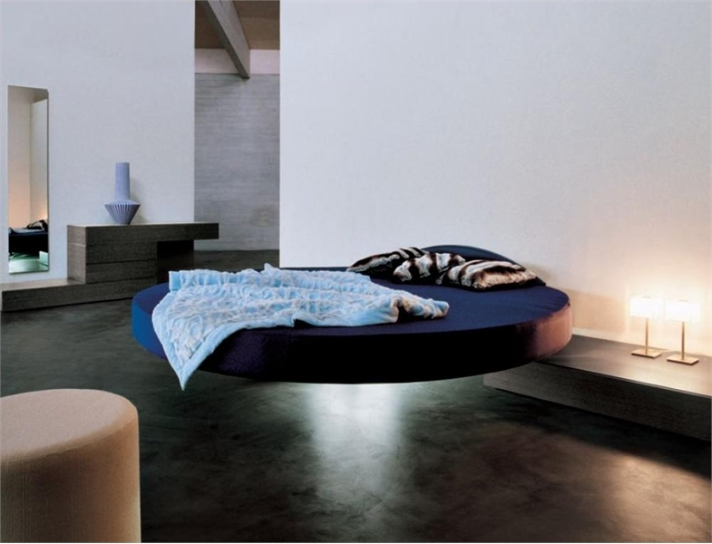 Cool round floating bed fluttua c by lago digsdigs for Round bed design images