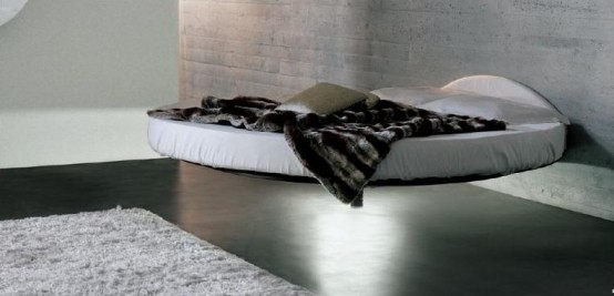 Cool Round Floating Bed Fluttua C By Lago