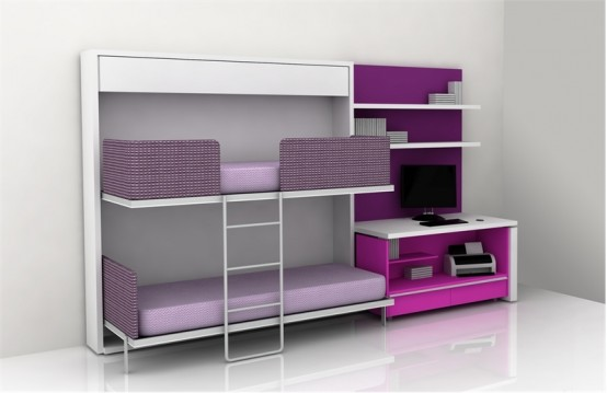Cool Teen Room Furniture For Small Bedroom by Clei - DigsDigs