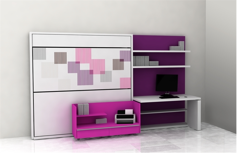 Cool teen room furniture for small bedroom by clei digsdigs for Cool desks for small spaces