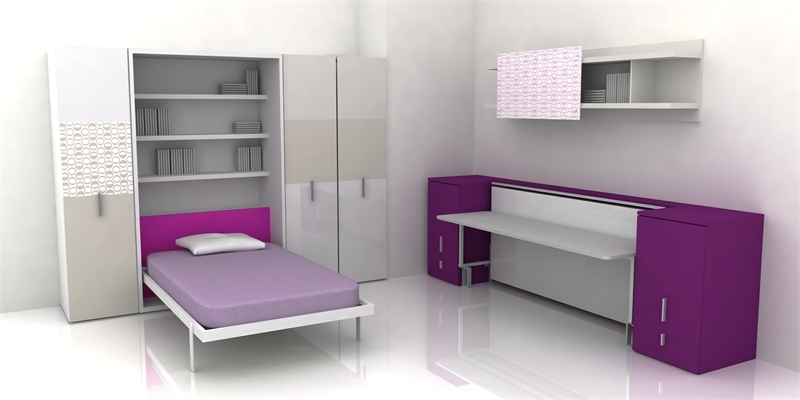 Cool teen room furniture for small bedroom by clei digsdigs - Small space design ideas bedroom set ...