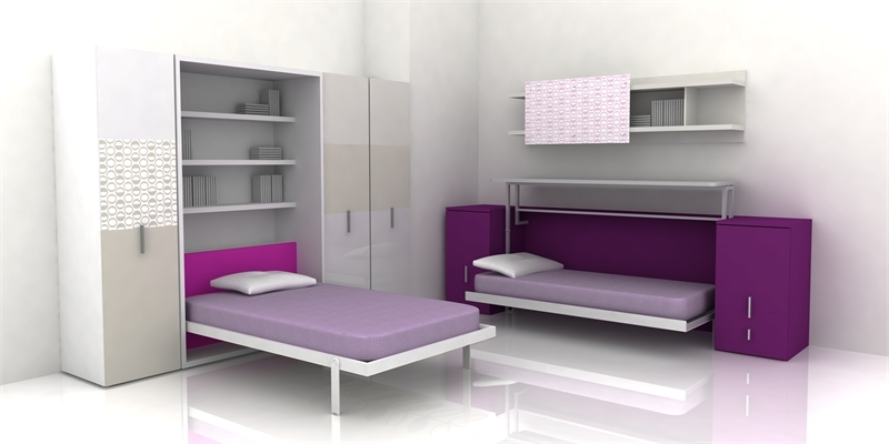 Cool teen room furniture for small bedroom by clei digsdigs for Small teenage bedrooms