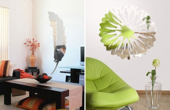 Cool Wall Stickers with Mirror Effect by Acte Deco - DigsDigs