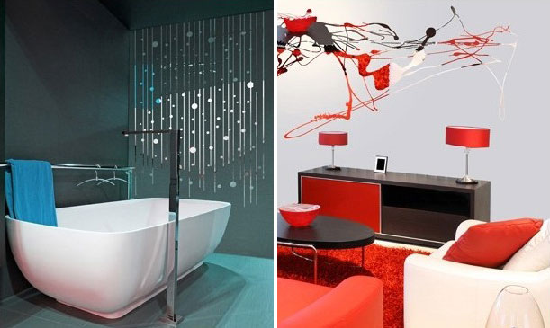 Cool Wall Stickers with Mirror Effect by Acte Deco DigsDigs