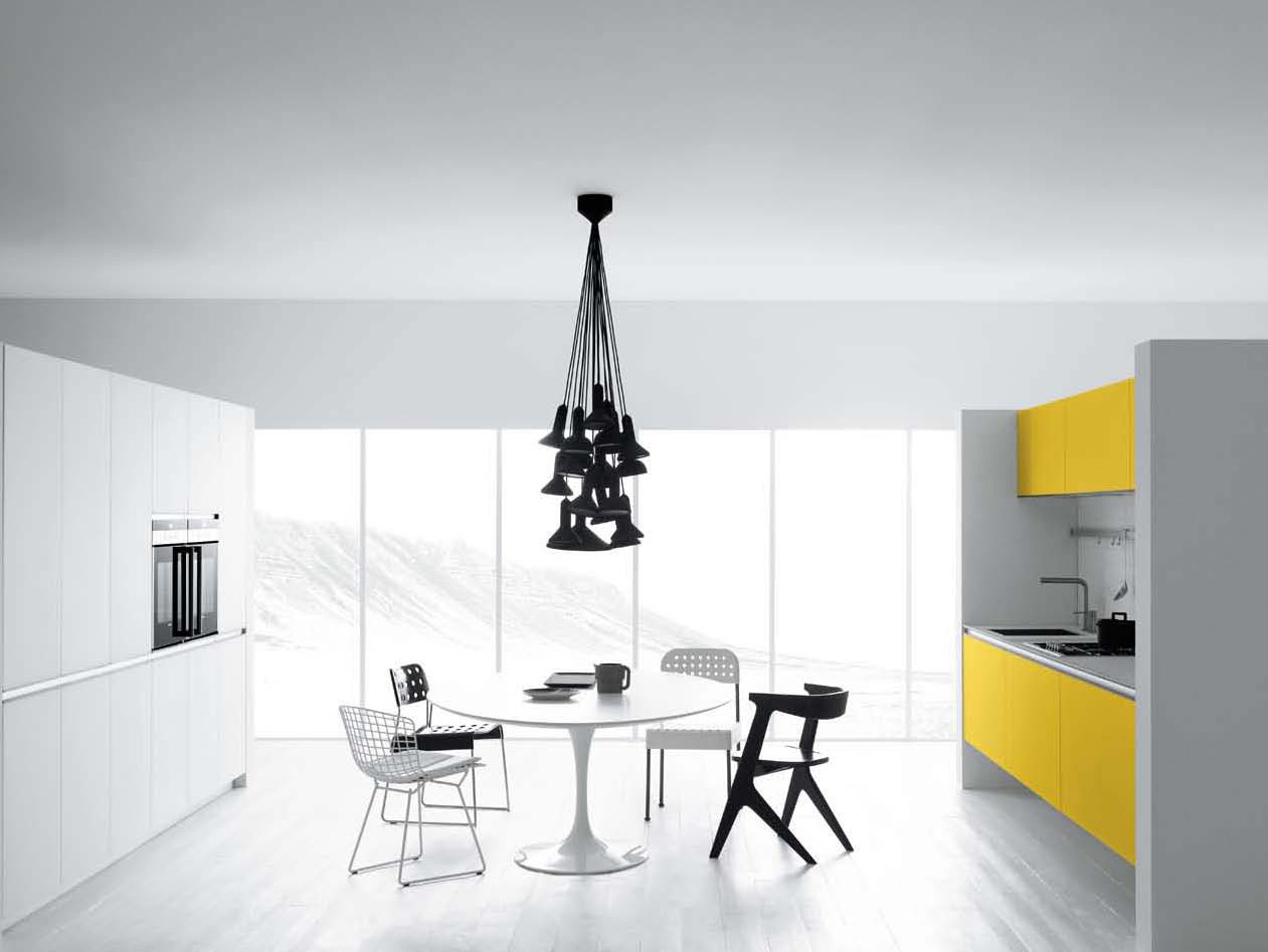 Cool White and Yellow Kitchen Design – Vetronica by Meson's