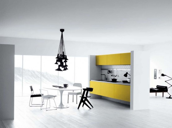 Cool Yellow And White Kitchen Design Vetronica By Menson's
