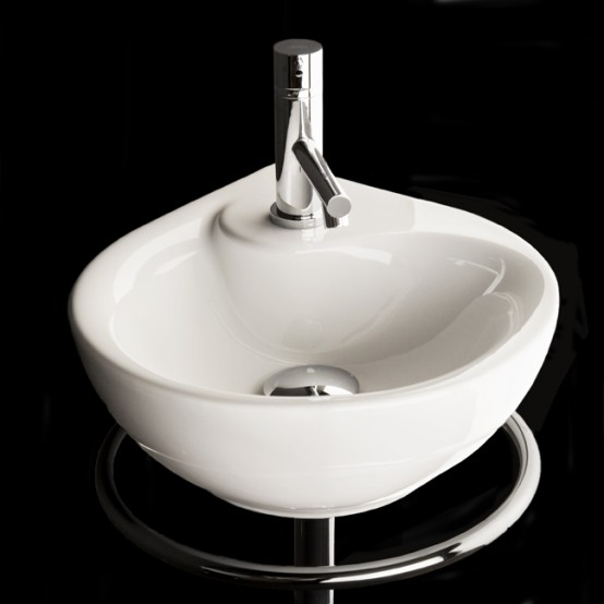 Corner Sink For Small Bathroom Piccolo By Lacava