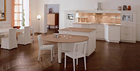 Cozy Classic Kitchen Designs - Florence by Snaidero - DigsDigs