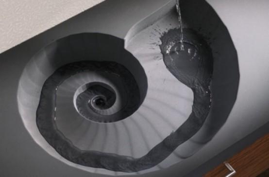 Creative Bathroom Washbasin Ammonit By Sasso