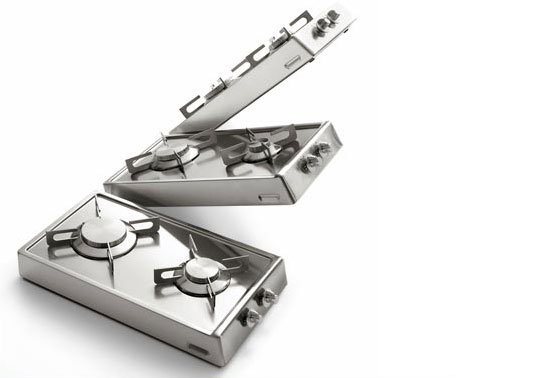Creative Flip Up Cooktop for Small Kitchen Layout by Alpes Inox