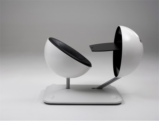 Creative And Ergonomic Work Station Globus By Artifort
