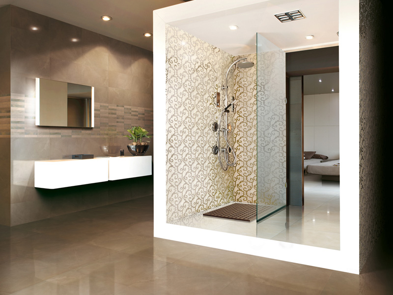Decorative porcelain tiles luxury interior design - Decorative bathroom tiles ...