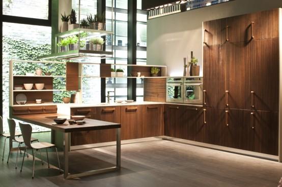 E Wood Kitchen By Snaidero