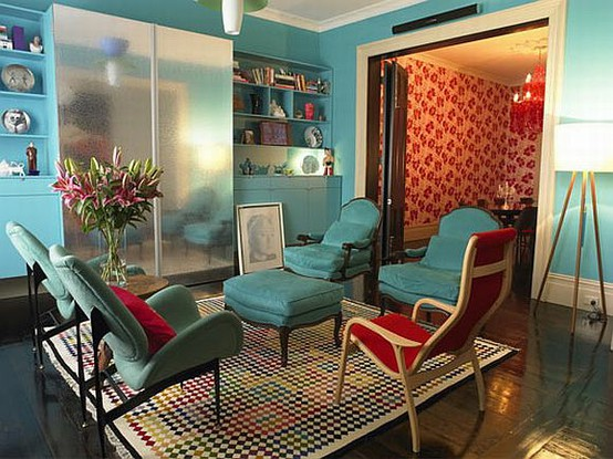 Eclectic Colorful Living Room