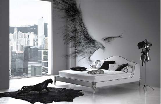 Elegant Black And White Bedroom Design Inspiration