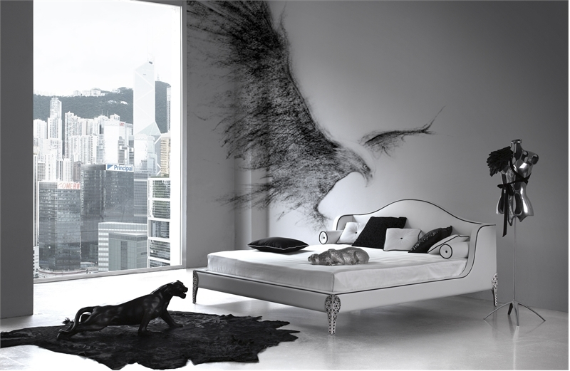 Bedroom Wall Decor Black And White : Elegant black and white bedroom design inspiration digsdigs